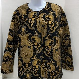 Hanna La Journee Tapestry Jacket Black Gold size S